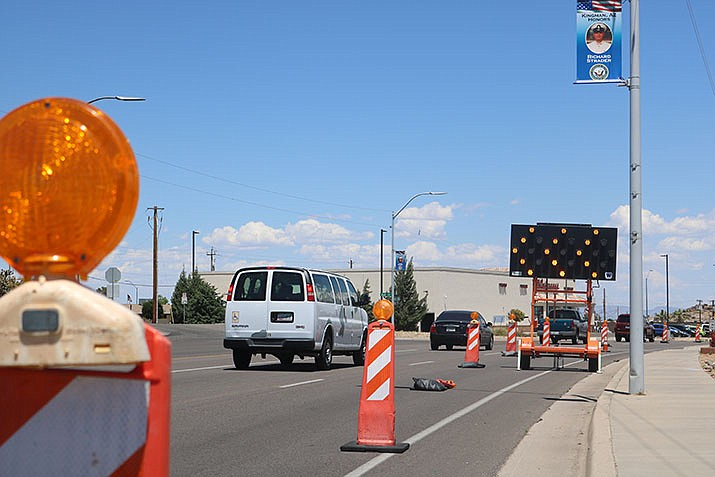 This week, the two northbound lanes will be closed so crews can mill the existing surface and pave the two lanes. Northbound traffic will be diverted to the center lane. (Photo by Travis Rains/Daily Miner)