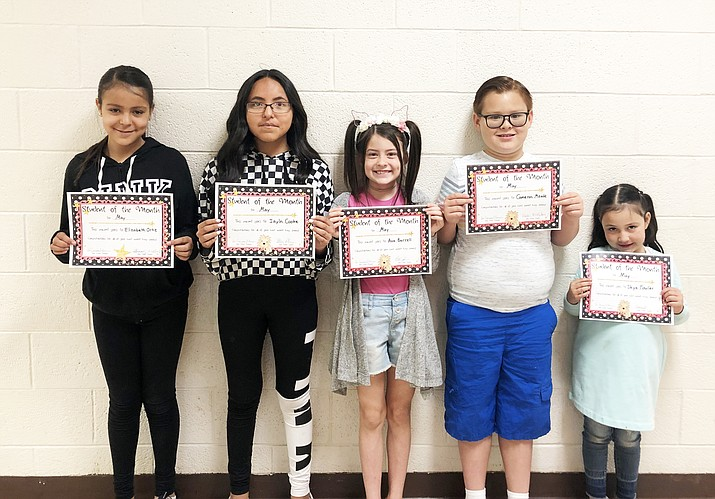 Williams Elementary-Middle School recently announced the May Students of the Month. (WEMS/photo)