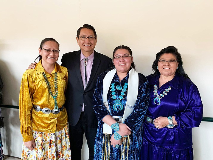 The university proudly recognized the several tribal leaders in attendance representing the White Mountain Apache, Yavapai and Navajo tribes who were all NAU alumni. (Photos courtesy of the Office of the President and Vice President via Facebook)