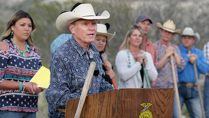 "During April's groundbreaking for Camp Verde's rodeo grounds – located off SR 260 just to the east of the Camp Verde Sports Complex -- Camp Verde Town Council member Joe Butner said the rodeo arena and equestrian center are ""a long time coming."" VVN/Bill Helm"