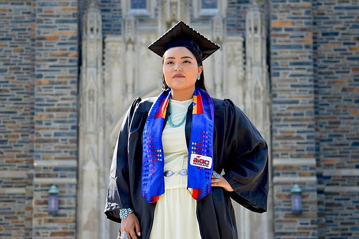 Shandiin Herrera from Monument Valley has helped raise the profile of the Native American community on campus. (Photo courtesy of Duke University)