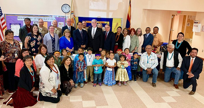 A recently signed agreement between the Navajo Nation and John Hopkins University allows data sharing to help study the relationship between uranium exposure and birth outcomes and potential developmental delays on the Navajo Nation. (Photo courtesy of the Office of the President and Vice President)