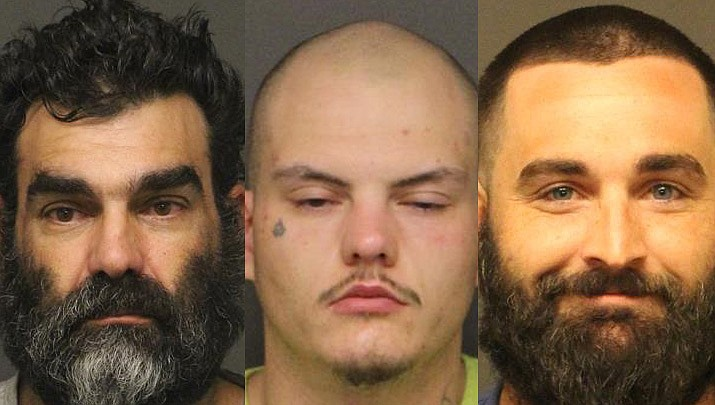 Anthony Michael Colella, Jonathan Dundee Hutchinson, and Michael Alaric Pauly (Mohave County Adult Detention Facility photo)