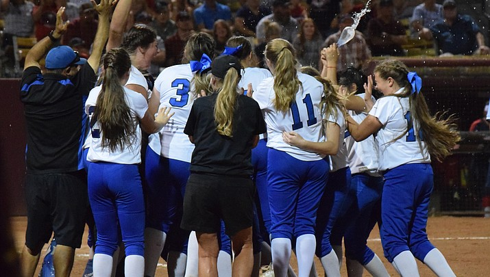 SOFTBALL QUEENS AGAIN: Camp Verde High rallies to win third  softball state championship