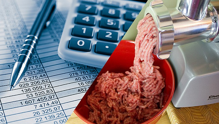 Formulating a budget has long been compared with making sausage; it's not pretty to watch, but through the mess good can be the result. (Courier illustration)