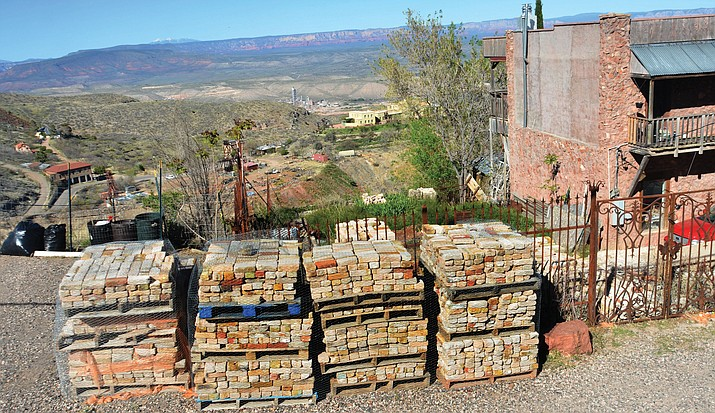 Bricks from the original Cuban Queen have been salvaged to use in the reconstruction of the former Jerome bordello. VVN/Vyto Starinskas