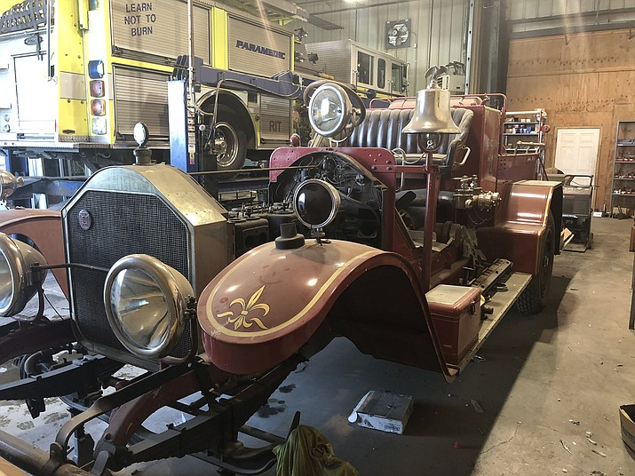 Kingman Fire Department is looking for donations to restore the FROG, Kingman's first ever fire apparatus. The fire apparatus, a 1922 American LaFrance pumper, was first purchased in 1921. (Photo courtesy of KFD)