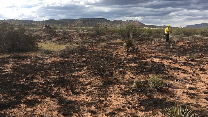 The Verde Valley Fire District,the Arizona State Department of Forest and Fire and the U.S. Forest Service put out a 6-acre brush and wild fire in high winds off Bill Gray Road near Cottonwood Thursday afternoon. The fire was about two miles from the Immaculate Conception Catholic Church. just off the road near some campsites