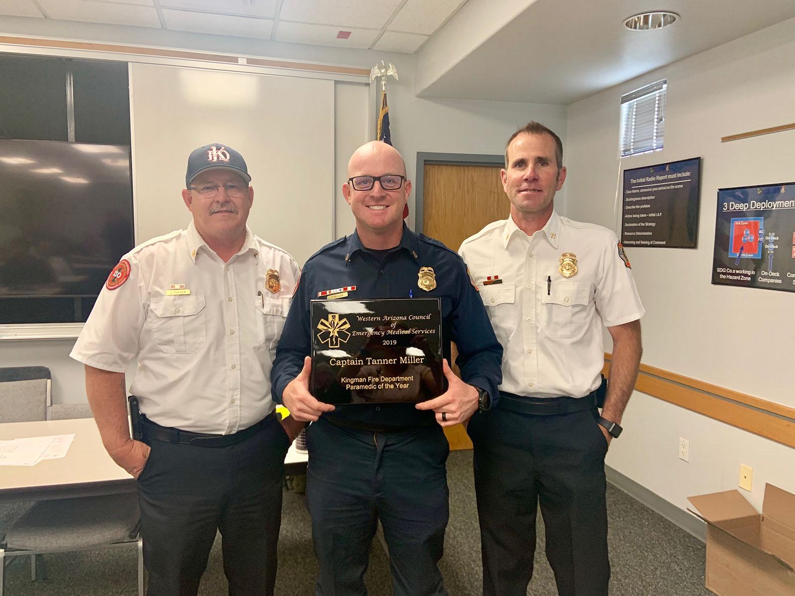 Kingman Fire Department captain receives Paramedic of the Year award