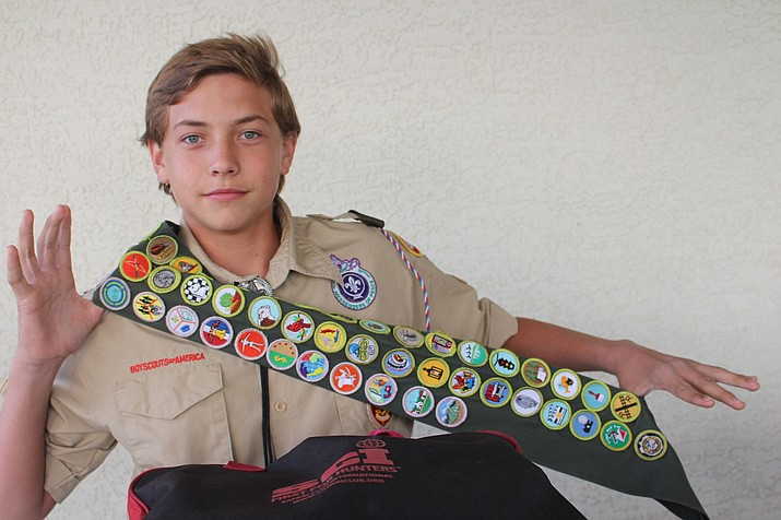 Kingman Eagle Scout David Biediger, 15, already has plans for the future. He wants to become a military policeman in the U.S. Air Force. (Photo by Agata Popeda/Daily Miner)