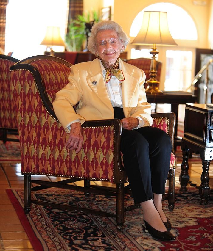 Elisabeth Ruffner in the lobby of the Hassyampa Inn on Thursday, Feb. 5, 2015. (Les Stukenberg/Courier file)