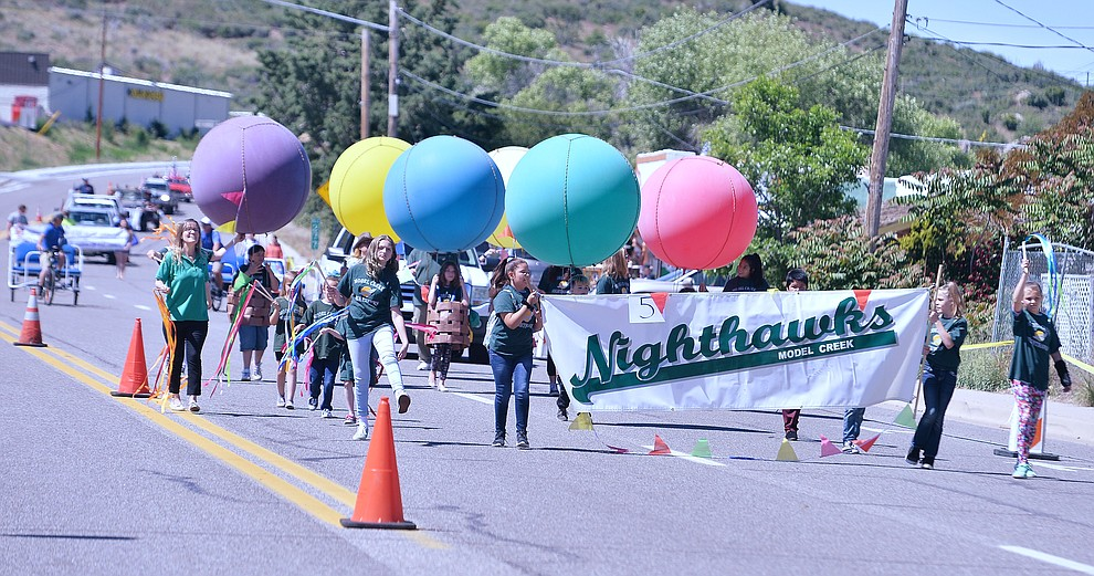 The 50th annual Yarnell Daze started off the day with a parade along Highway 89 in Yarnell Saturday, May 18.  (Les Stukenberg/Courier)