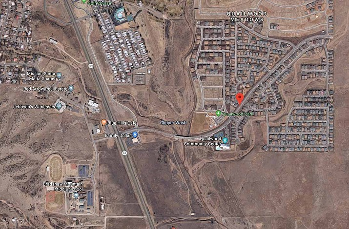 Residents have the opportunity to participate in three public hearings at the Prescott Valley Town Council meeting set for 5:30 p.m. Thursday, May 23, in the Prescott Valley Public Library auditorium. All three are requests for zoning map changes. (Screenshot of Google Maps)