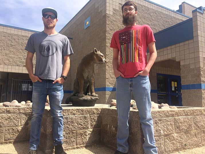 Josh Bowen, left, the salutatorian, and Jacob Akans, right, the valedictorian, for Chino Valley High School's graduating class of 2019. (Jason Wheeler/Review)