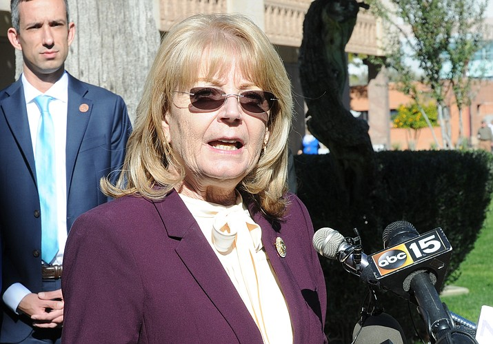 Senate President Karen Fann said that four days of negotiations have led to deal with Gov. Doug Ducey on a spending plan for 2020.  Capitol Media Services photo by Howard Fischer