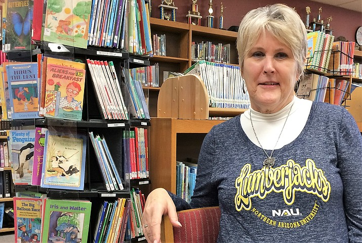 Ann Carey, library coordinator for Glassford Hill Middle School, is retiring in May after 25 years with the Humboldt Unified School District. (Sue Tone/Tribune)