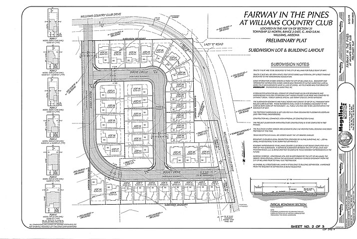Steve Iverson of Phantom Ranch Development has submitted a preliminary plat for the proposed Fairway in the Pines subdivision. (City of Williams/photo)
