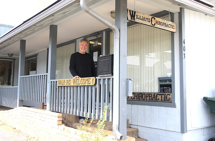 George Bardwell has relocated his chiropractor practice to 403 W. Railroad Avenue in Williams. He is currently open three days a week. (Wendy Howell/WGCN)