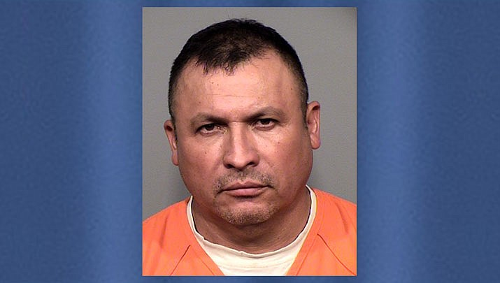 Hilario Perez, 48, was arrested on May 16 after police found 40 pounds of methamphetamine in a vehicle he was driving on Interstate 17 in Cordes Junction. (Yavapai County Sheriff's Office/Courtesy)
