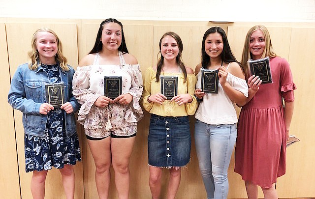 Lady Viking softball players recognized for talents
