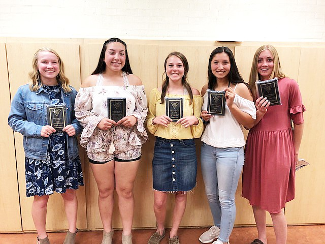 Several Vikings spring athletes were recognized at the Williams High School sports banquet last week. For softball, Aaliyah Alvarado was named Most Valuable Player, Jazlyn Romero was selected as Offensive Player of the Year, Sydnee Mortensen was selected as Most Improved and Maddie Jensen was selected as Most Inspirational and Defensive player of the Year.