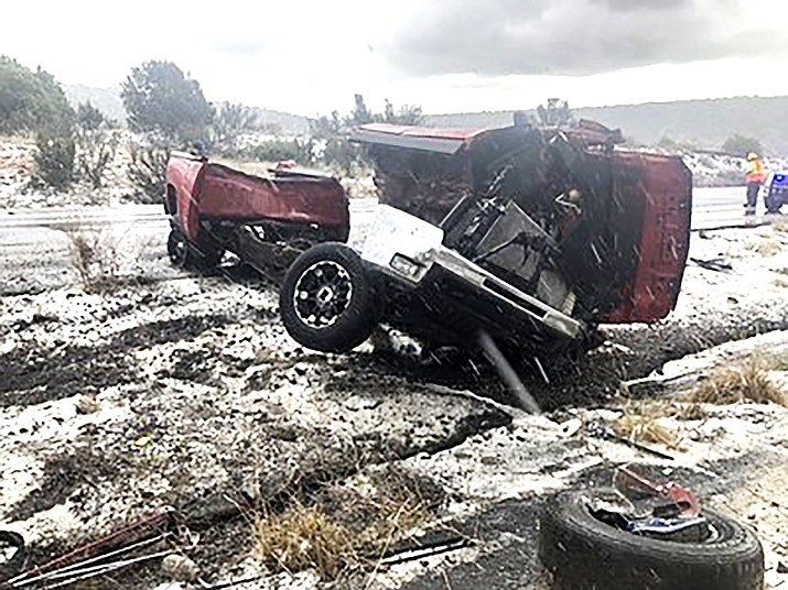 On April 12, Williams Volunteer Fire Department was dispatched to I-40 near milepost 154 for a multi vehicle accident. (Photo/Williams Volunteer Fire Department)