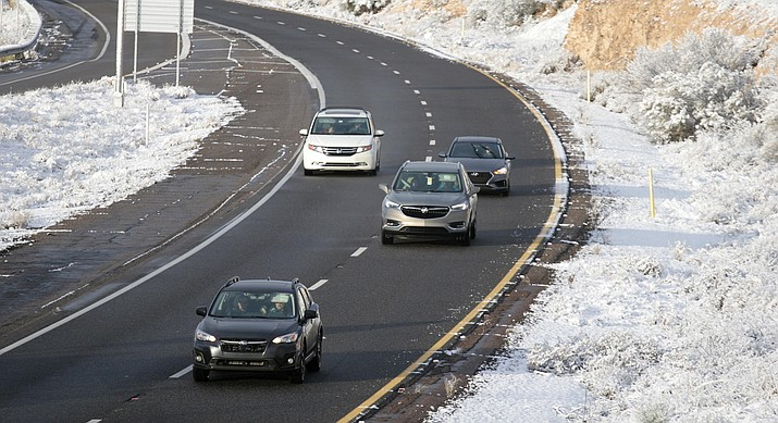 The National Weather Service is expecting snow to impact travel on highways in the Flagstaff area, including Interstate 40, Interstate 17 and State Route 89A. Snow is also expected in areas along SR 260 between Payson and Heber. The heaviest snow is expected from Wednesday night through early Thursday morning above 6,000 feet. VVN file photo.