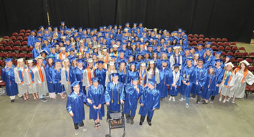 Chino Valley HIgh School graduated 153 now former students in a commencement ceremony Wednesday, May 22 at the Findlay Toyota Center in Prescott Valley.  (Les Stukenberg/Courier)