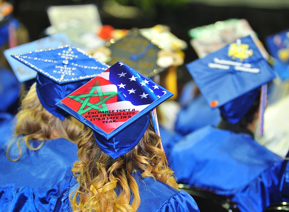 Chino Valley HIgh School graduated 153 students in a commencement ceremony Wednesday, May 22 at the Findlay Toyota Center in Prescott Valley.  (Les Stukenberg/Courier)