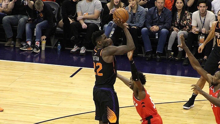 Deandre Ayton, the No. 1 overall pick in the 2018 NBA Draft, joined the other top-5 picks on the all-rookie first team. (Daily Miner file photo)