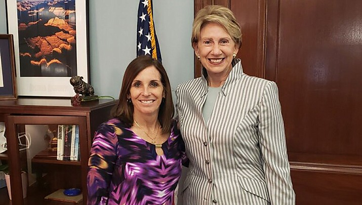 Sen. Martha McSally (R-AZ) on Tuesday hailed President Donald J. Trump's intent to nominate Ambassador Barbara Barrett to be Secretary of the Air Force. (Office of Sen. Martha McSally photo)