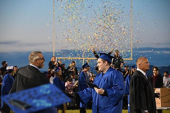 Kingman High School held its 2019 graduation Monday, May 20 at KHS field. (Photo by Vanessa Espinoza/Daily Miner)