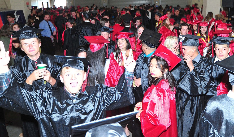 Students are ready as Bradshaw Mountain High School graduated 334 students in a commencement ceremony Thursday, May 23 at the Findlay Toyota Center in Prescott Valley. (Les Stukenberg/Courier)