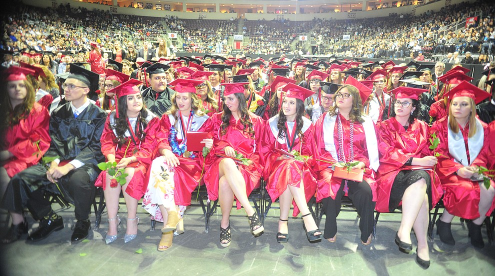 Bradshaw Mountain High School graduated 334 students in a commencement ceremony Thursday, May 23 at the Findlay Toyota Center in Prescott Valley. (Les Stukenberg/Courier)