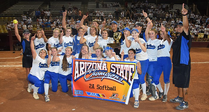 Camp Verde softball won the state championship. VVN/James Kelley