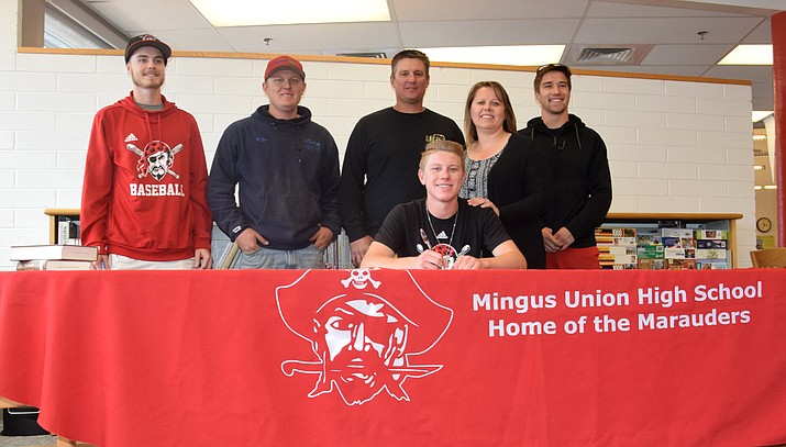 Mingus senior baseball stars Chris Mathe and Justin Tanner signed with Cochise College and Tanner to Scottsdale Community College respectively. VVN/James Kelley
