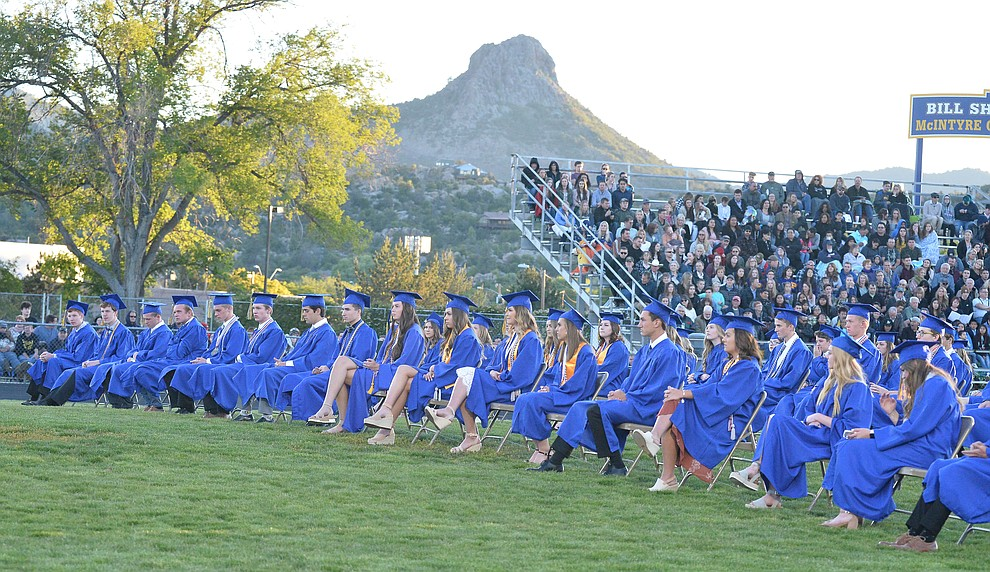 Prescott High School graduated 301 students in a commencement ceremony Friday, May 24 on Bill Shepard Field in Prescott. (Les Stukenberg/Courier)