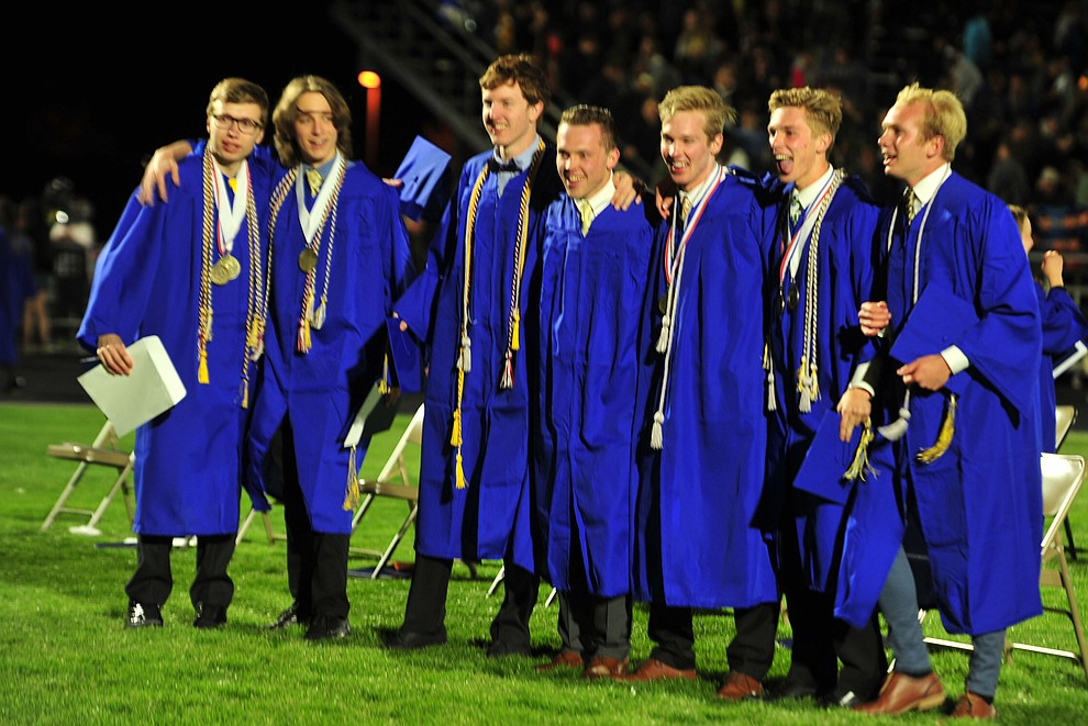 Celebration ensues as Prescott High School graduated 301 students in a commencement ceremony Friday, May 24 on Bill Shepard Field in Prescott. (Les Stukenberg/Courier)