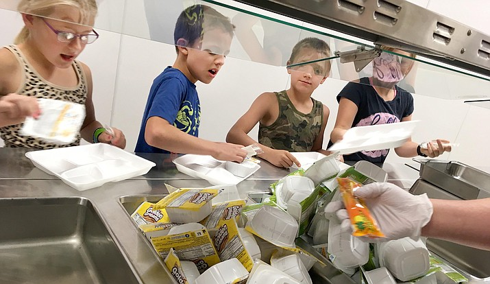 Beaver Creek, Cottonwood-Oak Creek and Mingus Union school districts will provide free meals during the summer. Pictured, children enjoy their lunch at Beaver Creek School in Rimrock. VVN/Bill Helm
