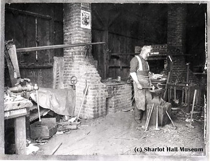 Blacksmith shop. Call #1700.8139.0000. (Courtesy of the Sharlot Hall Museum Library & Archives.)
