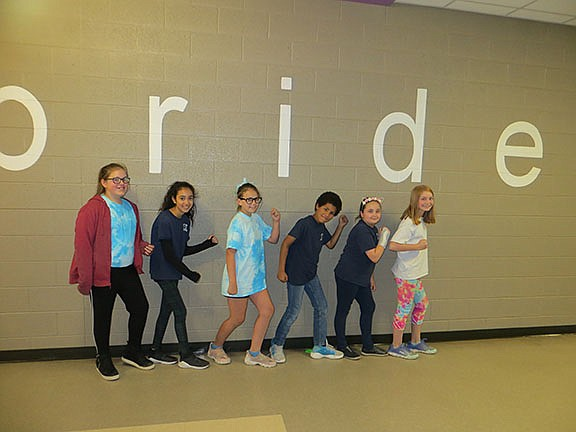 Left to right are: Grace Baker (age 11), Sophia Guzman (age 11), Angel Perry (age 11), Shafeeq Dowling (age 10), Hailey Knisley (age 10), and Isabelle Ruebush (age 10), our Larson Lifeskills winners.