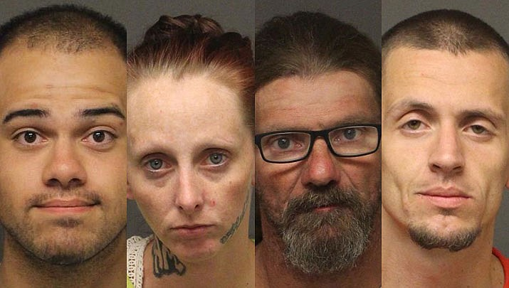 Josiah Nicholas Angelos, Amber Kennedy, Kevin Lee Dennis, & Rick William Costello Jr. (MCSO photos)