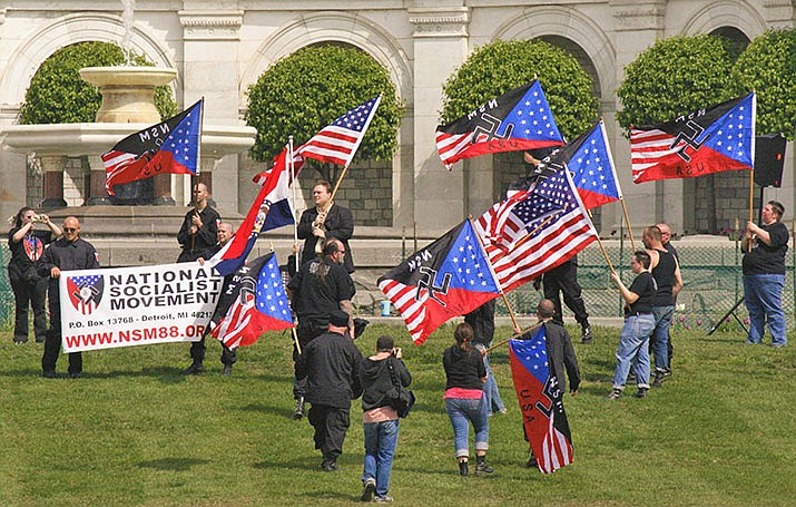 National Socialist Movement event on the West lawn of the US Capitol. (Wikimedia Commons)
