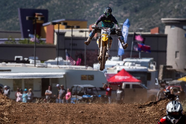 Motorcycles were in action early in the day during Arizona Off Road Promotion's Prescott Valley Grand Prix near the Findlay Toyota Center Saturday, May 25. in Prescott Valley. (Eric Anderson/Courtesy)
