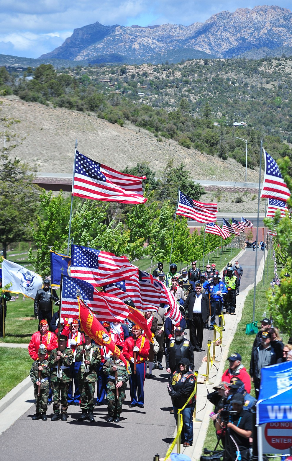 The colors are presented during the Memorial Day Ceremony at the National Cemetery Monday, May 27 in Prescott. (Les Stukenberg/Courier)