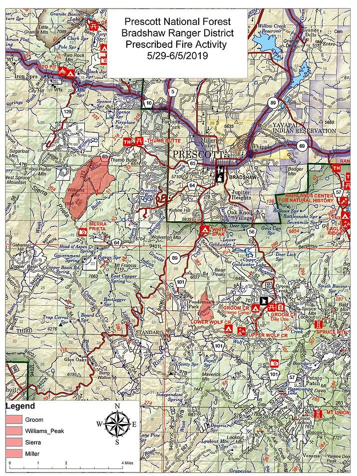 Prescribed burn activity in Bradshaw Ranger District. (Prescott National Forest/Courtesy)