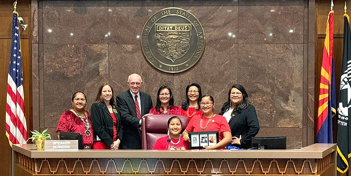 The Navajo Nation celebrates a new bill signed by Arizona Governor Doug Ducey creating a study group for Missing and Murdered Indigenous Women. (Photo/OPVP)