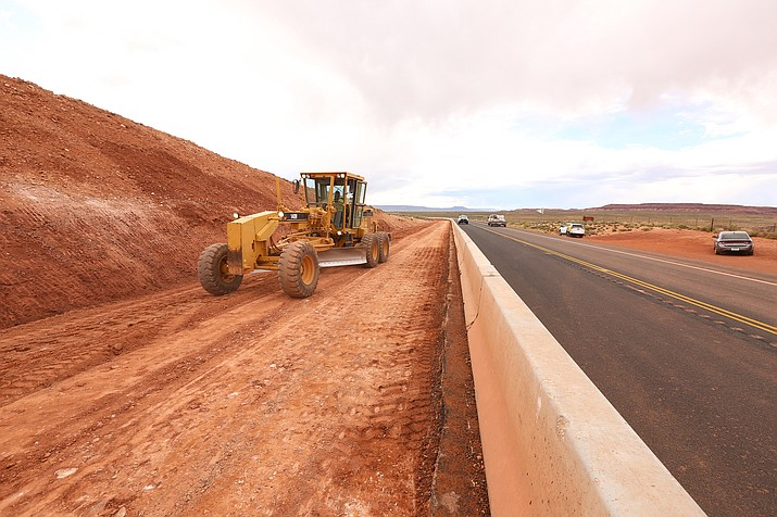 Road construction has started on State Route 64 leading to the Grand Canyon from Cameron, Arizona. (Photo/Navajo Department of Transportation)