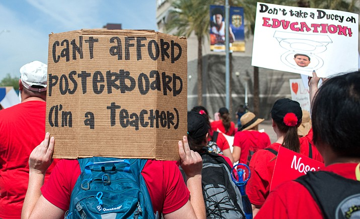 Arizona continues to have some of the lowest per-pupil spending on education in the nation, according to the latest numbers from the Census Bureau. The state has made improvements in recent years but still lags, which drove teachers to the streets last year in protest. (Photo by Jesse Stawnyczy/Cronkite News)