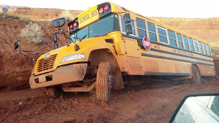 Potholes Can Be A Bump In The Road To Education On The Rez